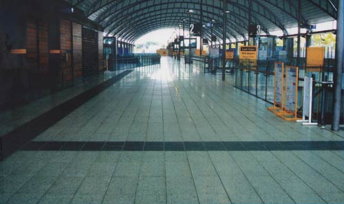 Olympic Park Station Homebush NSW Manufactured And Fixing By Pebblecrete Tile Size 600x300x60mm